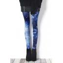 Sexy Galaxy Pattern Girls Chic Leggings