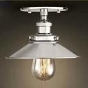 Tiny Chrome 1 Light Semi Flush Indoor LED Close to Ceiling Fixture
