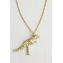 Cool Dinosaurs Shaped Alloy Chic Necklace