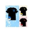 Women's Cartoon Print Short Sleeve T-shirt