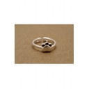 Cute Cat Footprints Shaped Opening Ring Adjustable Ring