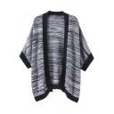 Color Block Placket Stripe Cardigan Sweater