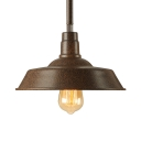 Industrial 1 Light Small LED Pendant in Old Copper Finish