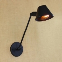 Cute Black Hallway Indoor Adjustable Wall Lighting