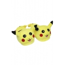 Slippers Plush Stuffed Shoes Casual Indoor Cartoon Home Expression Pikachu Unisex Footwear