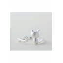 Hot New Release Cute Cat Shaped Silver Opening Ring Adjustable Ring