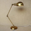 Attractive Gold Finished Single Light Industrial Adjustable LED Table Lamp Desk Lighting