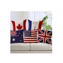 Fashion World Flag Car Linen Cotton And Linen Pillowslip