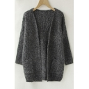 Women's Twist Pockets School Wear Sweater Loose Long Knit Cardigan