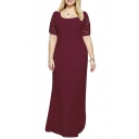 Women's Extra Plus Size Elegant Full Lace Long Wedding Dress