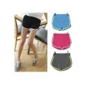 Women Summer fashion Casual Yoga Running Gym Cotton Solid Sports Shorts