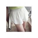Women's Cotton Linen Floral Fringe Tassel Hem Shorts