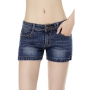 Women's Denim Skinny Shorts
