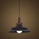 15'' Wide Stylish Antique Copper 1 Light LED Pendant with Bell Shade