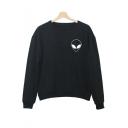 Women's Simple Print Long Sleeve Sweatshirt