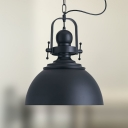 Loft 1 Light Industrial Single Lighting LED Pendant in Black
