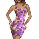 Womens Fashion Sleeveless Summer Vintage Casual Mini Dress