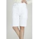 Chic High Waist Pian Women Short Pants