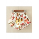 Women's Floral Printed Woven Shorts