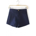 Women's Plus Size Stretch Fitted Casual Jean Denim Shorts