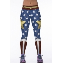 New Style Cool Girl Active Star Printed Legging