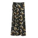 Women's Floral Print Knotted Skirts