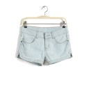 Comfy Women's Plus 5 pockets Denim Shorts