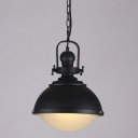 Chic 12'' W Industrial 1 Light LED Pendant in Matte Black Finish