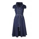 Women's 1950s Cap Sleeve Swing Vintage Party Dresses