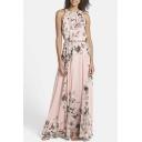 Women's Chiffon Printed Summer Beach Maxi Dresses