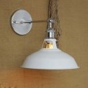 Simple 1 Light White Finished Small Hallway LED Wall Light
