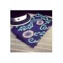 Chic Flower Print Women Scarf Shawl
