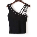 Cool Chic Design Spaghetti Straps Sleeveless Women Sexy Chic Top
