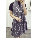 Elegant Feather Print Women Scarf Work/Casual