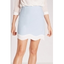 New Arrival Fashionable Elegant Contrast Hem Short Skirt
