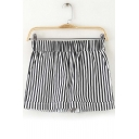 Elastic Waist Chic Striped Loose Hot Shorts