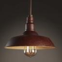 Antique Copper 1 Light Small LED Hanging Pendant Light Indoor Lamp