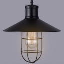 1 Light Nautical Style Single Light LED Pendant with Wire Cage