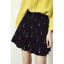 Chic Elastic Waist Pleated A-Lien Mini Skirts
