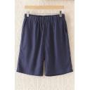 Women's Plus Size Linen Shorts