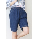 Women's Plus Size Jean Shorts Relaxed Fit