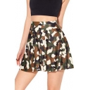 Women's Camo Full Short Skirt