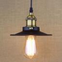 Black Finished 7'' Wide Mini Industrial Indoor LED Pendant Lighting