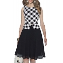 Women's False Two Pieces Wear to Work A-line Party Dress
