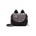 Cute Ear Shaped Embellish Women Shoulder Bag