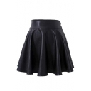 Fashion Women Plain A-Line Mini Skirts