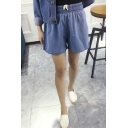 Women Shorts Loose Cotton Short Casual Female Mid Waist Denim Shorts