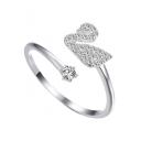 Bling Bling Zrion High Quality Sliver Opening Ring Adjustable Ring