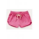 Women's Summer Casual Mid Waist Plain Hot Shorts