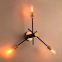 Brass Finished 3 Lt Hallway LED Wall Lamp with Rotating Arms